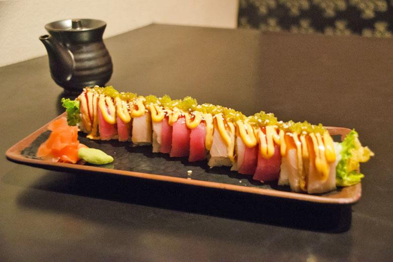 Esse sushi dá vontade de comer com os olhos.