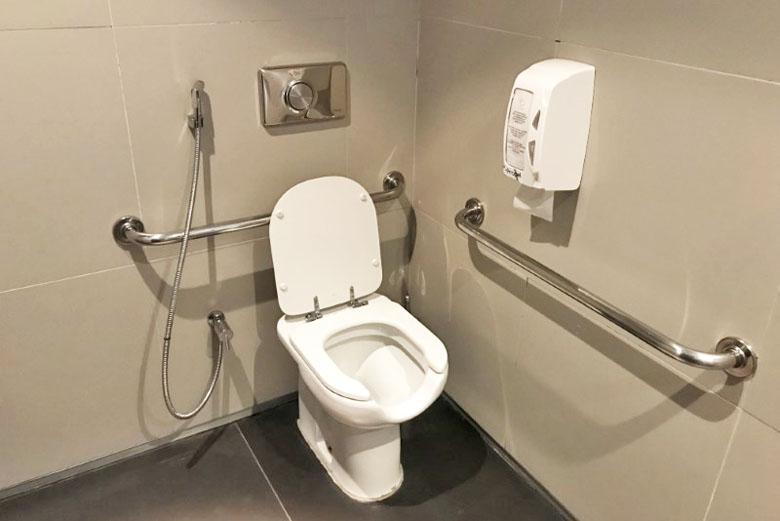 Banheiro individual da sala VIP.