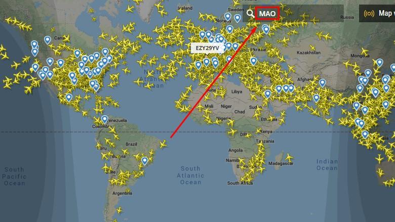 Você só precisa escolher o aeroporto para ver as rotas disponíveis.