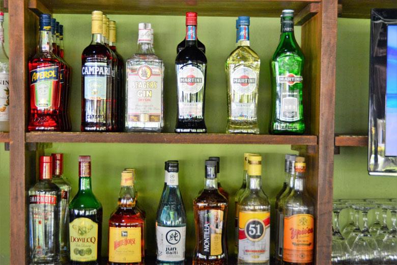 Bebidas que fazem parte do all-inclusive.