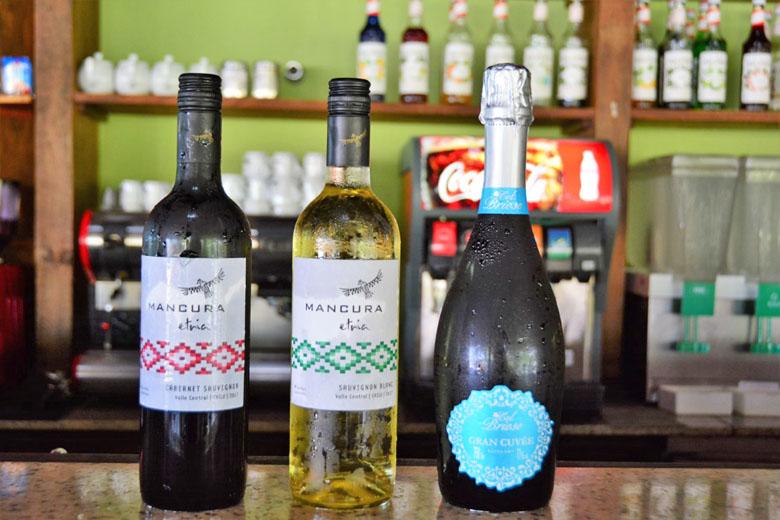Vinhos que fazem parte do all-inclusive.