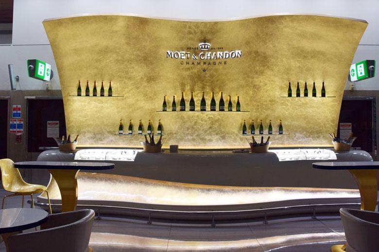 Estande de champagnes Moët & Chandon