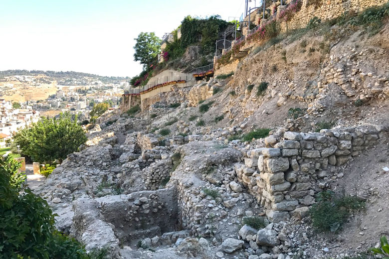 Ruínas de casas pertencentes à aristocracia no período do 1º Templo.