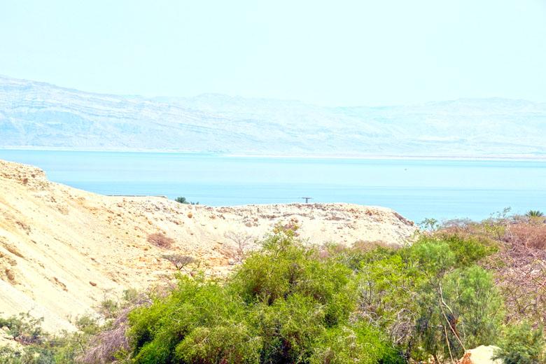 Vista para o Mar Morto.