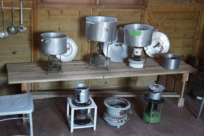 A cozinha comunitária.