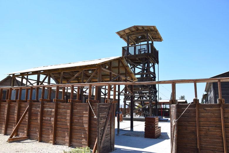 A torre de observação.