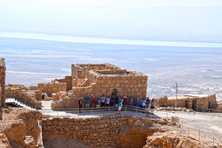 Ruínas da fortaleza de Masada.