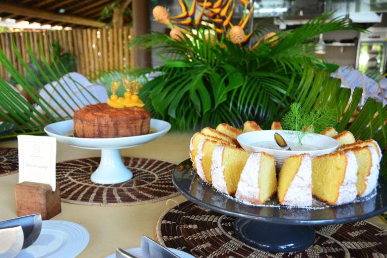 Café da manhã do restaurante do hotel Campo Bahia.