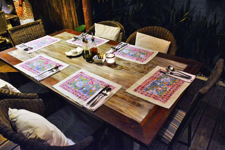Ambiente do Restaurante Capim Santo.