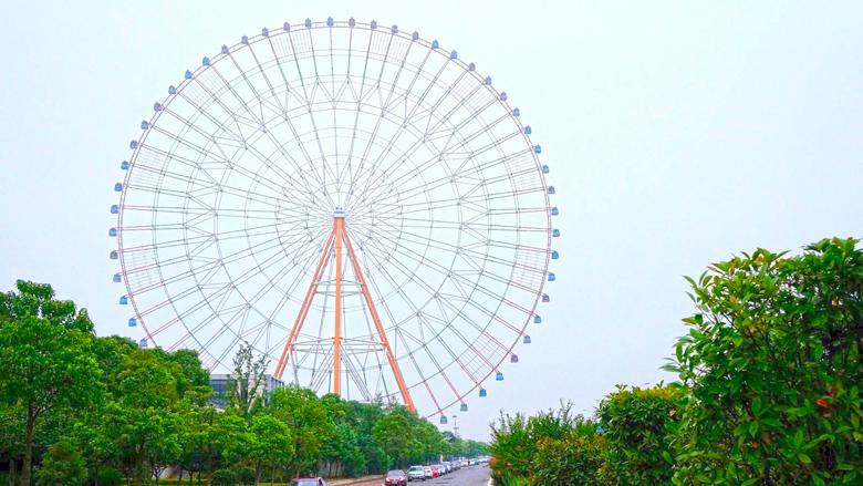A roda-gigante de Nanchang.