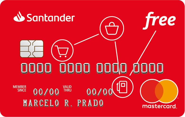 Cartão de crédito Santander Free • Falando de Viagem