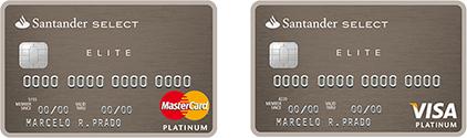 Cartão de Crédito Santander Van Gogh / Select Elite Platinum