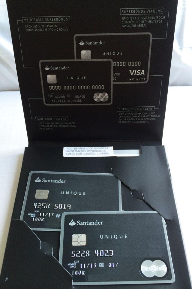 Cartão de crédito Santander Select Unique Visa Infinite