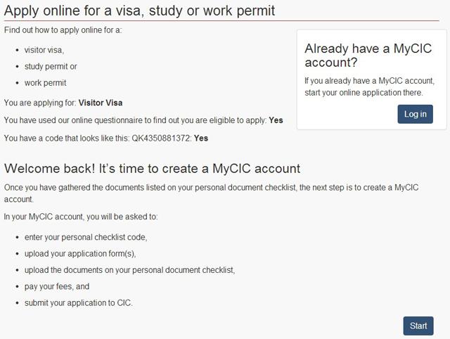 Passo a passo para tirar o visto on-line para o Canadá