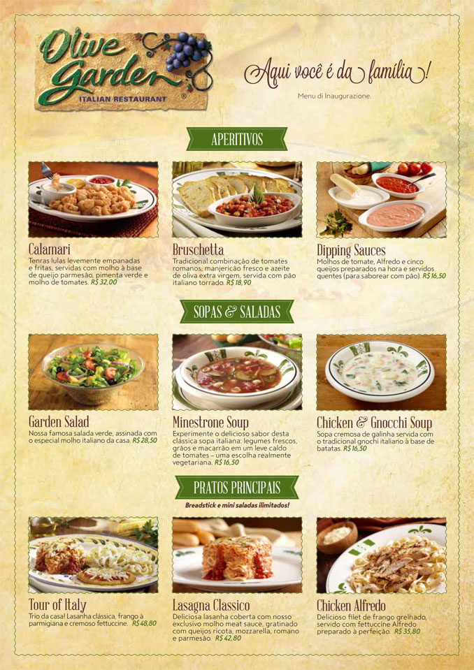 Olive Garden Menu Specials Olive Garden Italian Restaurant 398 Photos 347 Reviews Image